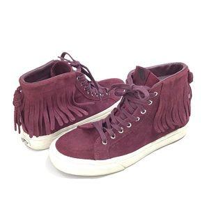 Vans Sk8-Hi Moc high top fringe sneakers